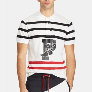 Ralph Lauren SS Striped P Wing Performance Polo
